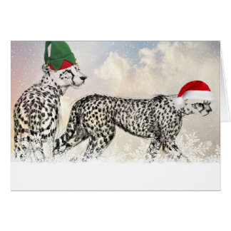A Very Cheetah Christmas Card
