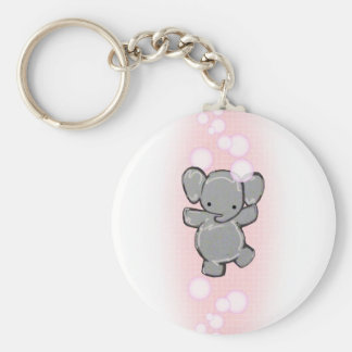 a very clean elephant keychain