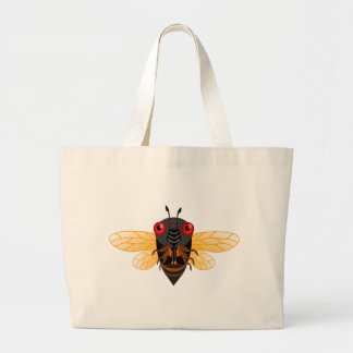 A very cute 17 year cicada large tote bag