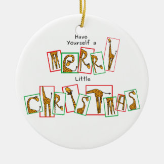 A Very Giraffe Christmas - Letters Christmas Ornament