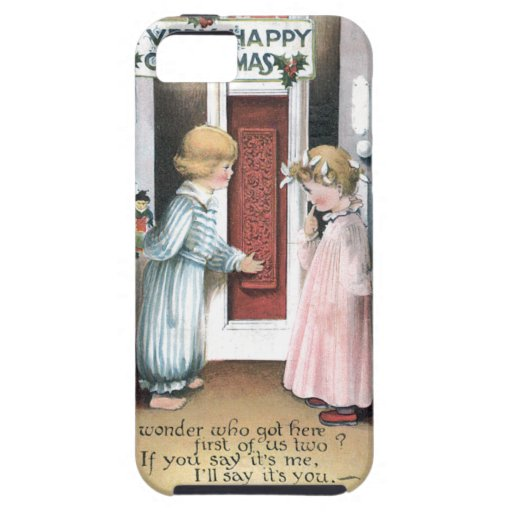 A Very Happy Christmas Vintage Greeting Card iPhone 5 Case