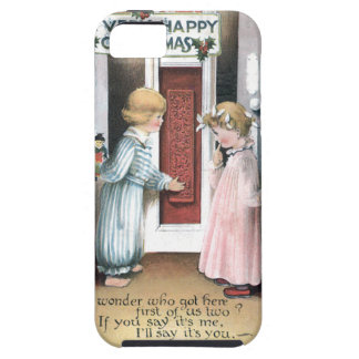 A Very Happy Christmas Vintage Greeting Card iPhone 5 Covers