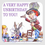 A Very Happy Unbirthday To You! Square Stickers