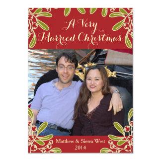 A Very Married Christmas Mistletoe Photo Card 11 Cm X 16 Cm Invitation Card