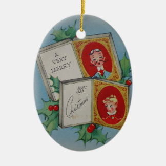 A Very Merry Christmas Ceramic Oval Decoration
