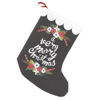 A Very Merry Christmas Floral Black