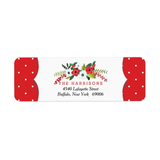 A Very Merry Christmas Floral Personalised