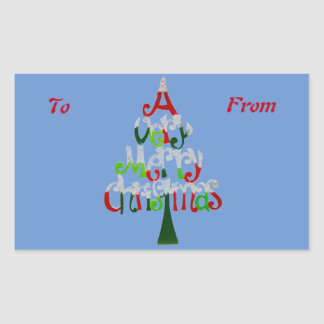 A Very Merry Christmas Gift Collection Rectangular Sticker