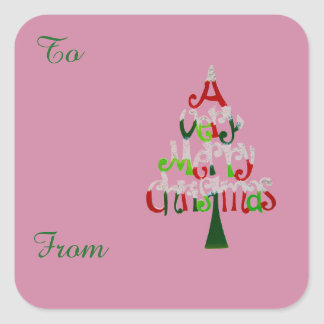 A Very Merry Christmas Gift Collection Square Sticker
