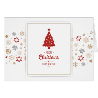 A Very Merry Christmas Holiday Pregnancy Announce Note Card