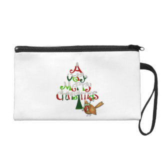 A Very Merry Christmas Holiday with A Bird Wristlet Clutch