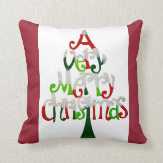A Very Merry Christmas Throw Pillow - Typography