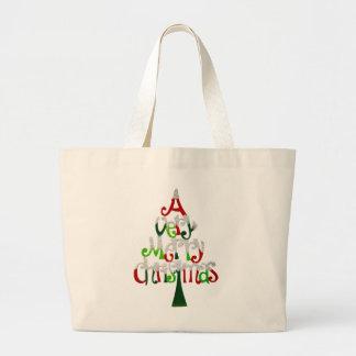 A Very Merry Christmas Tree Jumbo Tote Bag