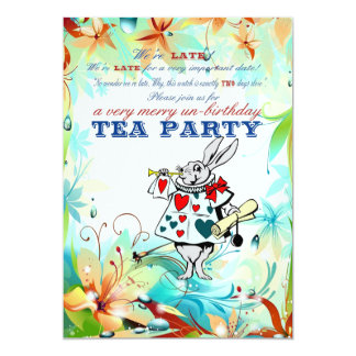 A Very Merry Unbirthday 13 Cm X 18 Cm Invitation Card