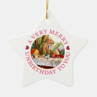 A Very Merry Unbirthday To You! Ceramic Star Decoration
