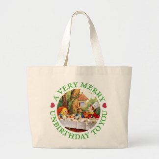 A VERY MERRY UNBIRTHDAY TO YOU! LARGE TOTE BAG