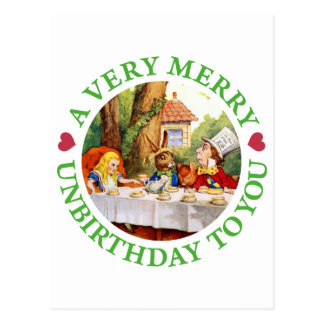 A Very Merry Unbirthday to You! Postcard