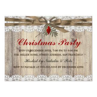 "A Very Merry Vintage Christmas Party Invite 6.5"" X 8.75"" Invitation Card"