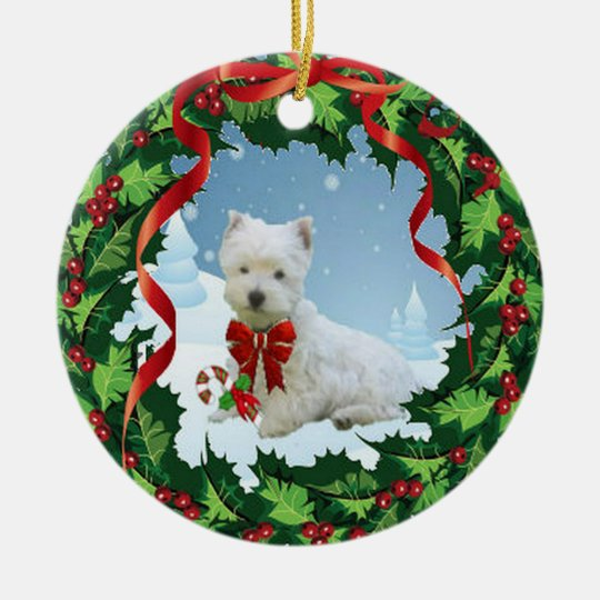 A Very Merry Westie Christmas Ornament