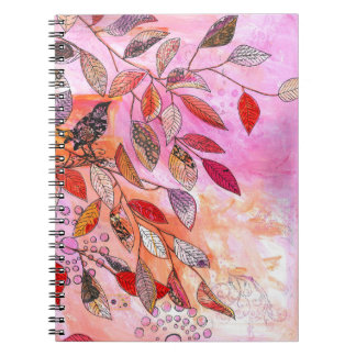 a very pink branch notebook