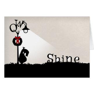 A Very Qwirky Christmas Shine Card