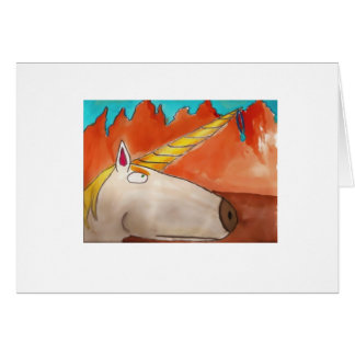 A Very Serious Unicorn Card