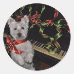 A Very Westie Christmas Round Sticker