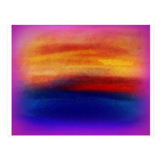 A vibrant colorful abstract contemporary design postcard