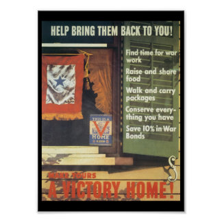 A Victory Home World War 2 Poster