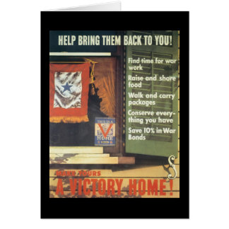 A Victory Home World War 2 Stationery Note Card