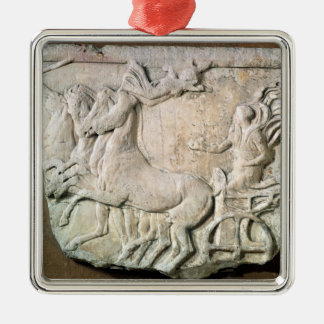 A victory in the four horse chariot race christmas ornament