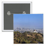 A view from a hiking trail in Griffith Park 15 Cm Square Badge