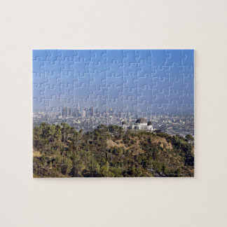 A view from a hiking trail in Griffith Park Jigsaw Puzzle