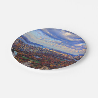 A view from above: Autumn in Central Park 01 7 Inch Paper Plate