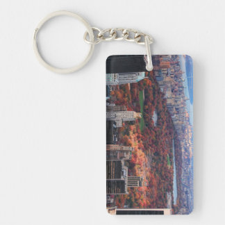 A view from above: Autumn in Central Park 01 Double-Sided Rectangular Acrylic Key Ring
