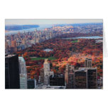 A view from above: Autumn in Central Park 01 Greeting Card