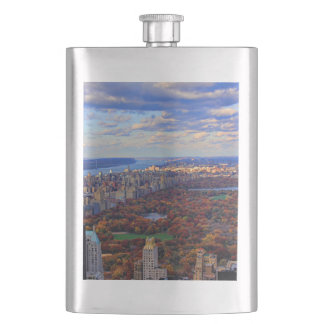 A view from above: Autumn in Central Park 01 Hip Flask