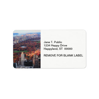 A view from above: Autumn in Central Park 01 Address Label