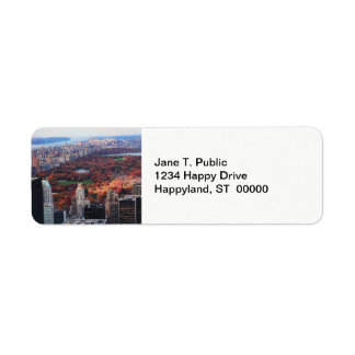 A view from above: Autumn in Central Park 01 Return Address Label