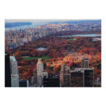 A view from above: Autumn in Central Park 01 Print