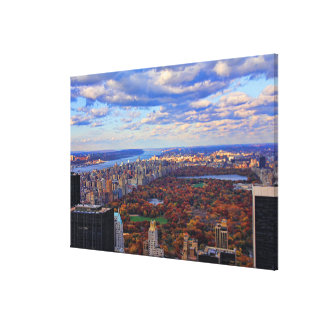 A view from above: Autumn in Central Park 01 Stretched Canvas Prints