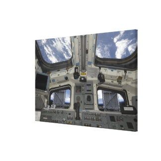 A view from inside the flight deck canvas print