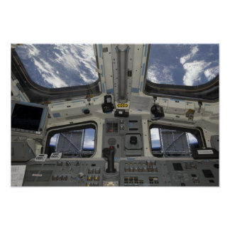 A view from inside the flight deck poster
