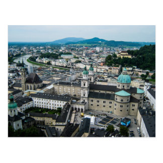A view from the Hohnensalzburg Fortress - Postcard