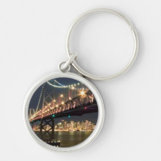 A View From Treasure Island Silver-Colored Round Key Ring