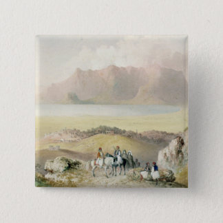 A View in Greece 15 Cm Square Badge