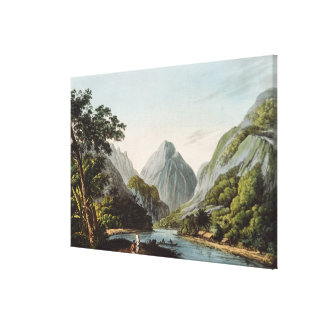 A View in Oheitepha Bay on the Island of Canvas Print