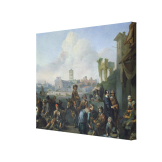 A View in Rome, 1668 Canvas Print