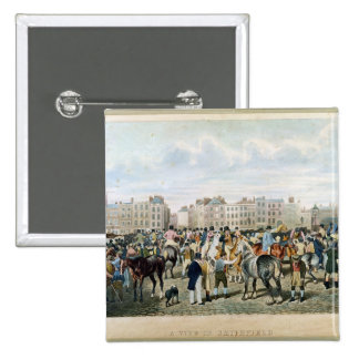 A View in Smithfield engraved by F.C. & C. Lewis 15 Cm Square Badge