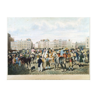 A View in Smithfield engraved by F.C. & C. Lewis Gallery Wrap Canvas